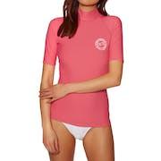 Billabong Logo Colour Short Sleeve Ladies Rash Vest