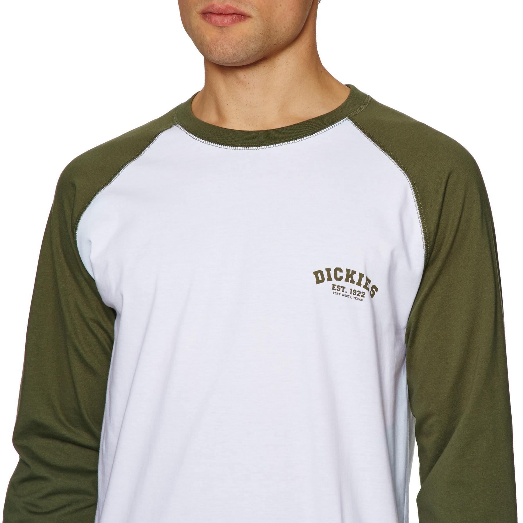 Dickies Baseball Camiseta de Manga Larga para Hombre