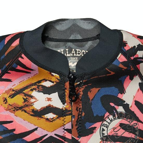 Billabong Salty Dayz 2mm Front Zip Sleeveless Womens Wetsuit Jacket