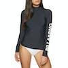 Billabong Logo Long Sleeve Womens Rash Vest - Black Pebble