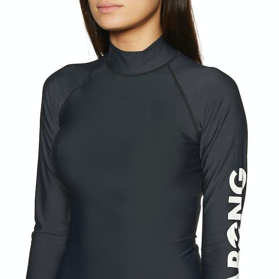 Billabong Logo Long Sleeve Womens Rash Vest