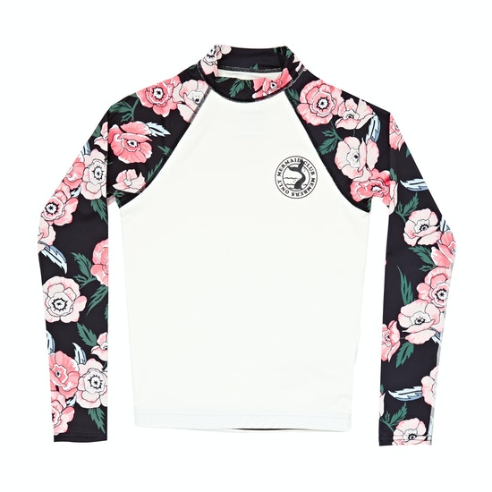 Billabong Flower Long Sleeve Girls Rash Vest