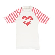 Licra Girls Billabong Logo Short Sleeve