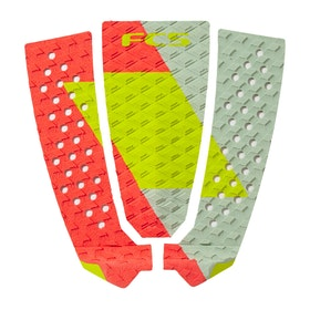 FCS Filipe Toledo Pro Grip Pad - Red Lime Slate