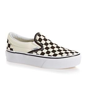 Vans Classic Platform Womens Slip On Shoes - Black Cream Checker
