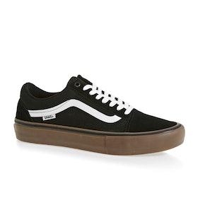 Vans Old Skool Pro Shoes - Black White Medium Gum