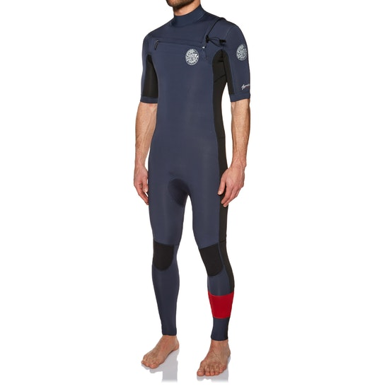 Rip Curl Aggrolite 2mm Chest Zip Short Sleeve Wetsuit