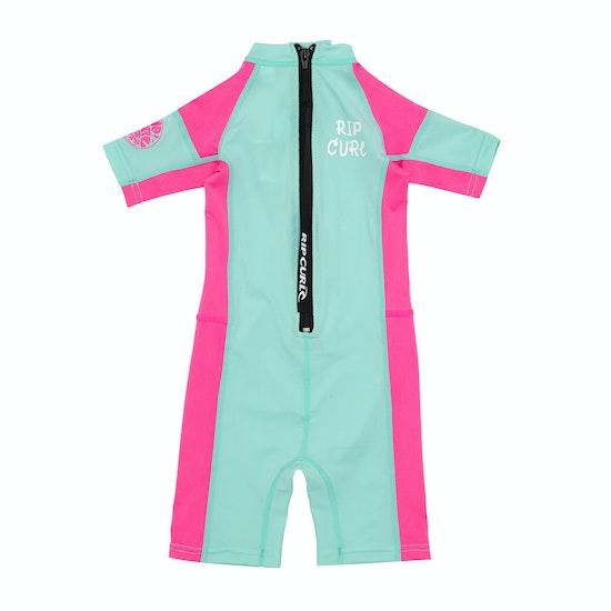 Rip Curl Mini Short Sleeve Shorty Girls Rash Vest