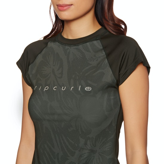 Rip Curl Tropic Glitch Cap Sleeve Womens Rash Vest