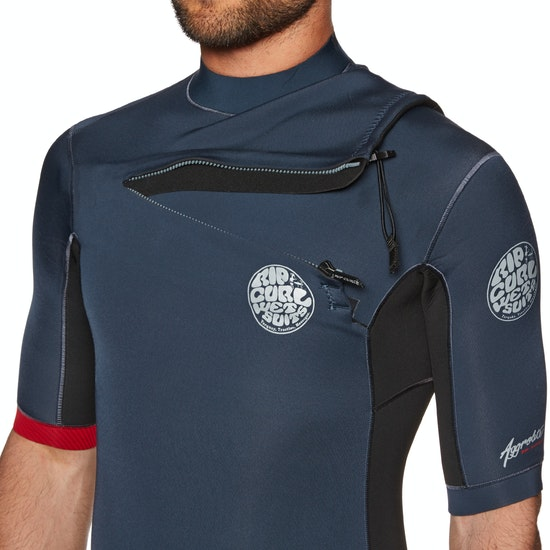 Rip Curl Aggrolite 2mm Chest Zip Shorty Wetsuit