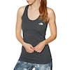 North Face Play Hard Tank Womens Running Top - TNF Dark Grey Heather Vintage White