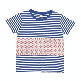 SWELL Pattern Girls Short Sleeve T-Shirt - Stripe/mosaic