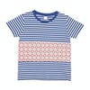 T-Shirt de Manga Curta Girls SWELL Pattern - Stripe/mosaic