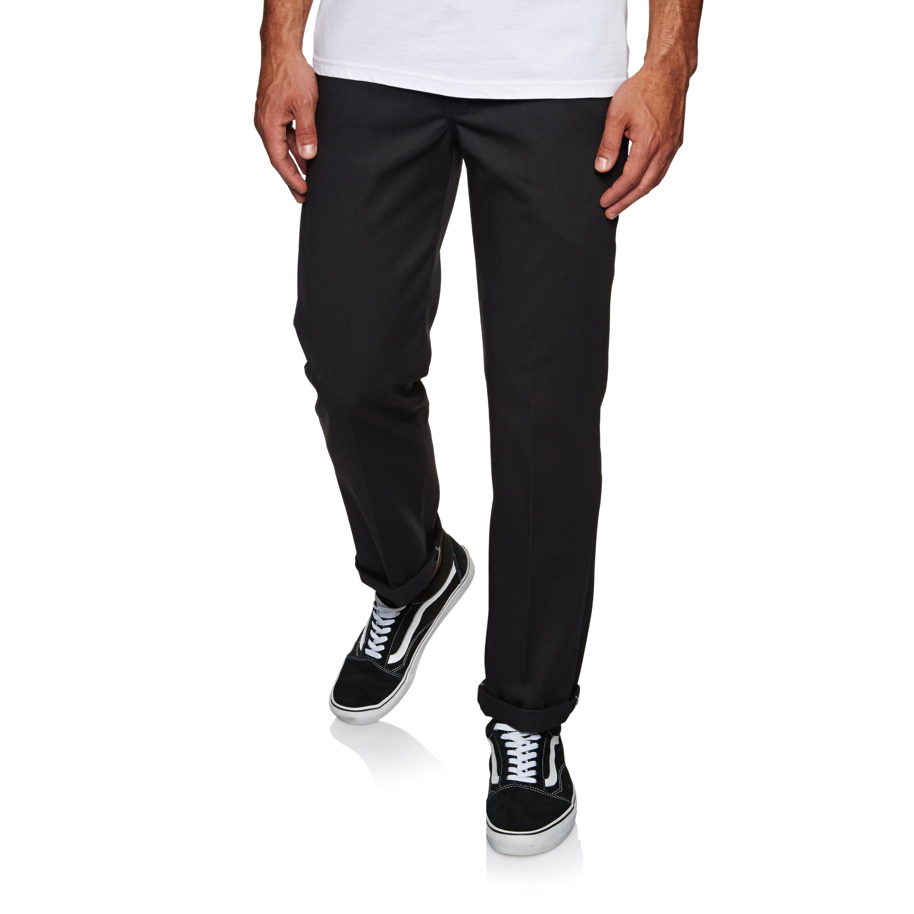 Dickies Mens Straight Work Slim Trousers Chocolate Brown 32W x 30L