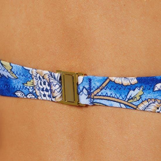 Nine Islands Zinnia Shaped Halter Bikini Top