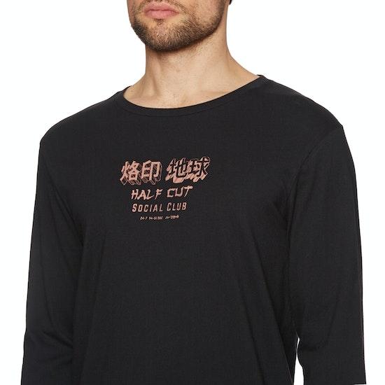 Globe Half Cut Long Sleeve T-Shirt