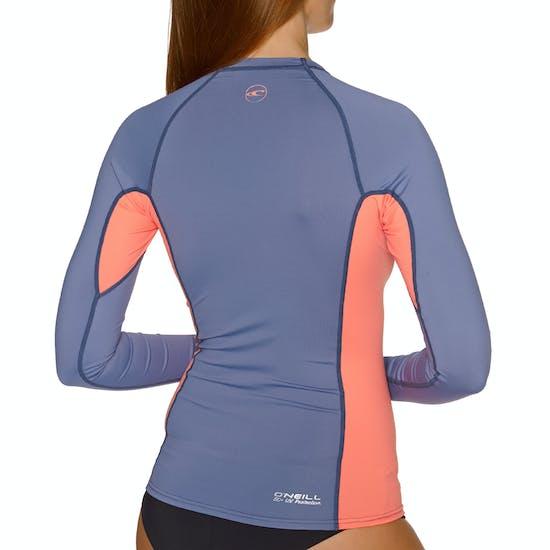 O'Neill Premium Skins Long Sleeve Rash Guard Ladies Rash Vest