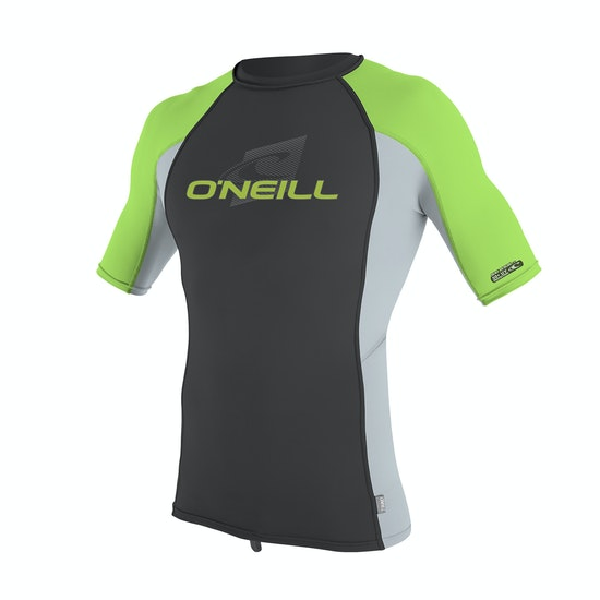 O'Neill Skins Short Sleeve Crew Boys Rash Vest