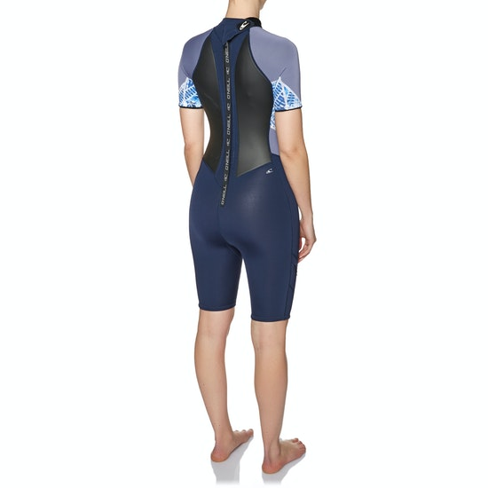 O'Neill Womens Bahia 2/1mm Short Sleeve Shorty Wetsuit