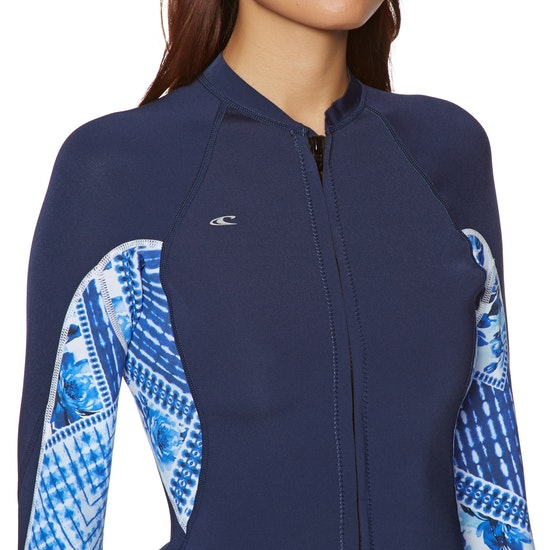 O'Neill Womens Bahia 1mm Full Zip Long Sleeve , Wetsuit Jacket