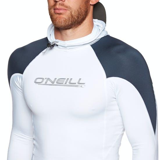 O'Neill Skins Ozone Long Sleeve Hooded Rash Vest