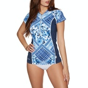 O'Neill Front zip Cap Sleeve Sun Shirt Ladies Rash Vest