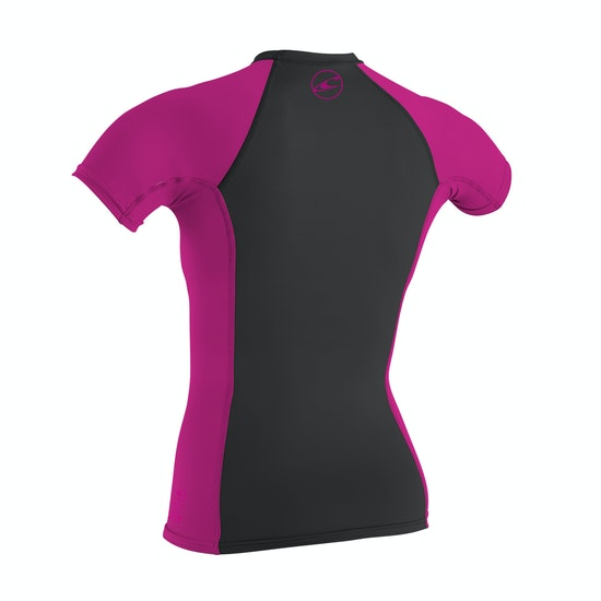 O'Neill Skins Short Sleeve Crew Girls Rash Vest