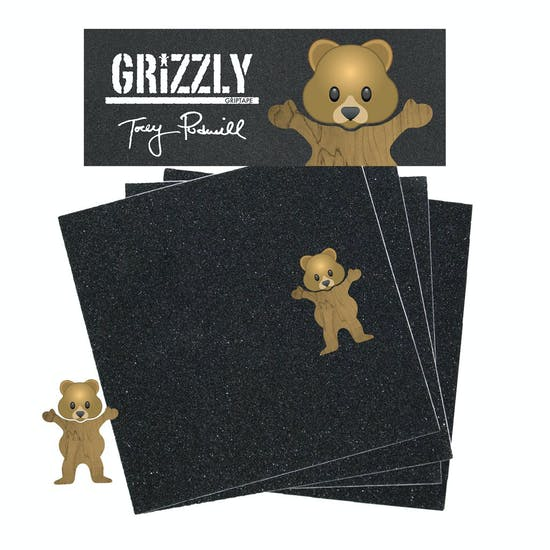 Grizzly Torey Pudwill Bear Skateboard Griptape
