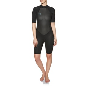 O'Neill Womens Reactor II 2mm Back Zip Shorty Wetsuit - Black