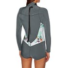 Roxy 2mm 2018 Syncro Back Zip Long Sleeve Shorty Ladies Wetsuit