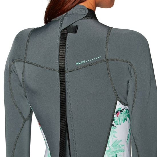 Roxy 2mm 2018 Syncro Back Zip Long Sleeve Shorty Womens Wetsuit
