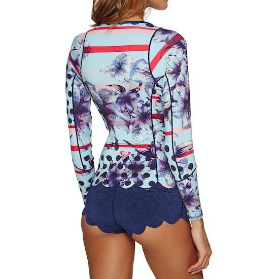 Roxy 1mm 2018 Pop Surf Front Zip Long Sleeve Wetsuit Jacket