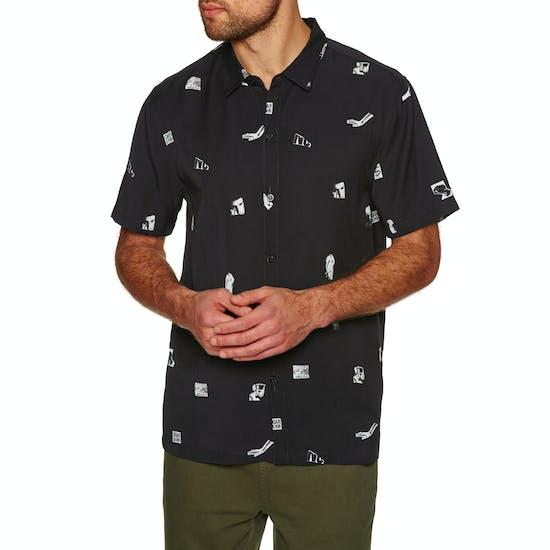 No News Patterned Short Sleeve Shirt