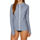 O'Neill Hybrid Long Sleeve Zip Sun Hoody Ladies Surf T-Shirt