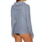 O Neill Hybrid Long Sleeve Zip Sun Hoody Ladies Surf T-Shirt