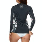 O Neill Front Zip Long Sleeve Ladies Rash Vest