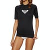 Roxy Whole Hearted Short Sleeve Womens Rash Vest - Anthracite