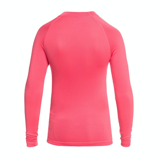 Roxy Whole Hearted Long Sleeve Girls Rash Vest