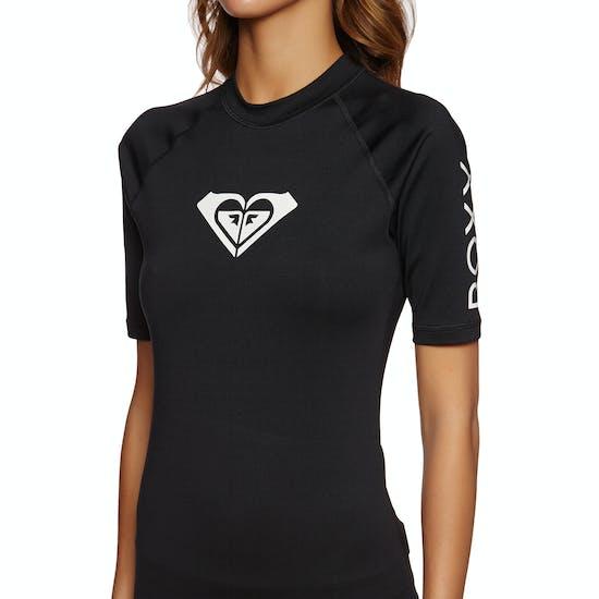 Roxy Whole Hearted Short Sleeve Ladies Rash Vest