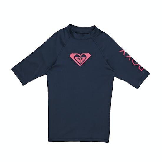 Roxy Whole Hearted Short Sleeve Girls Rash Vest