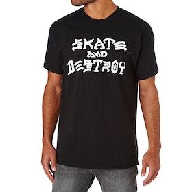 Thrasher Skate Destroy Short Sleeve T-Shirt - Black