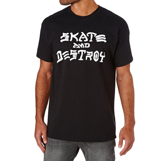 T-Shirt de Manga Curta Thrasher Skate Destroy