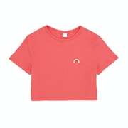 SWELL Rainbow Embroidery Girls Short Sleeve T-Shirt
