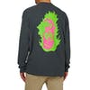 Welcome Creepers Heavyweight Thermal Long Sleeve T-Shirt - Grey