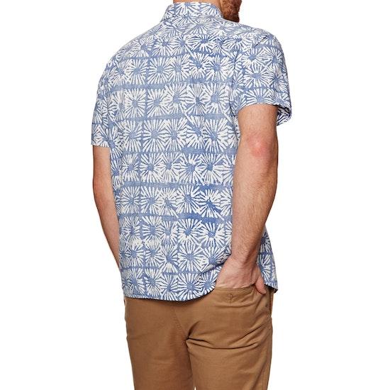 RVCA Flower Block Short Sleeve Shirt