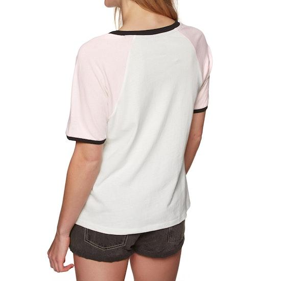 T-Shirt à Manche Courte Femme Volcom Volstone Ringer
