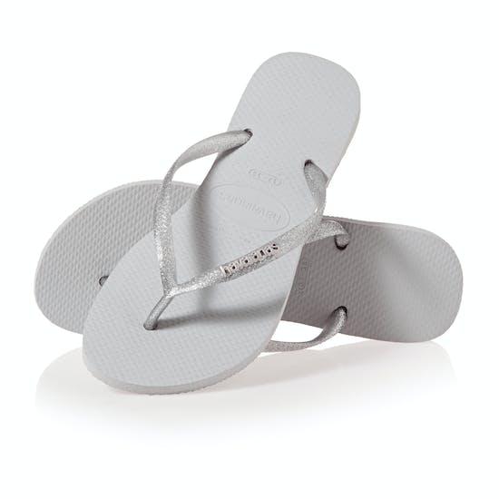 Havaianas Slim Logo Metallic Ladies Sandals