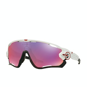 Oakley Jawbreaker Sunglasses - Polished White ~ Prizm Road