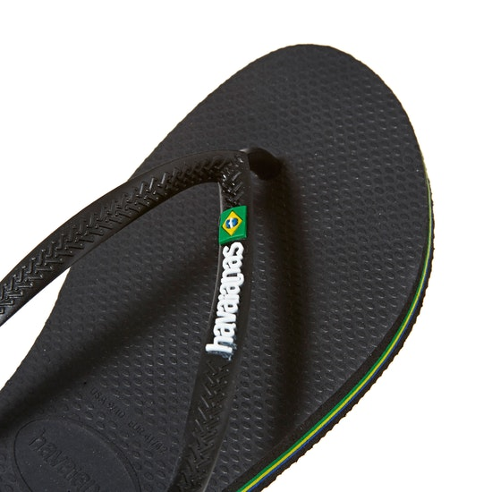 Havaianas Slim Brasil Logo Womens Flip Flops