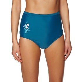 Sotto Bikini Nine Islands Piper Embroidered High Waist Pant - Emerald